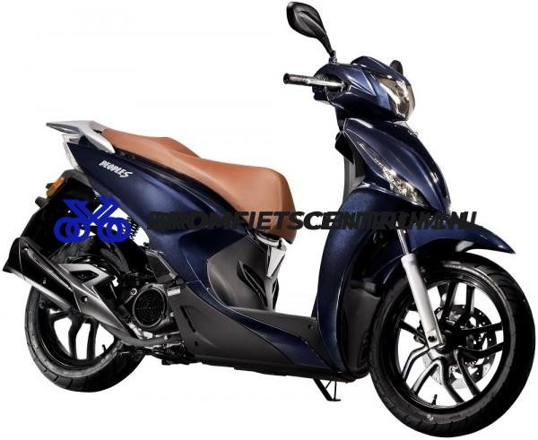 Kymco New People S E4 in Blauw en Lederen Look Zitting